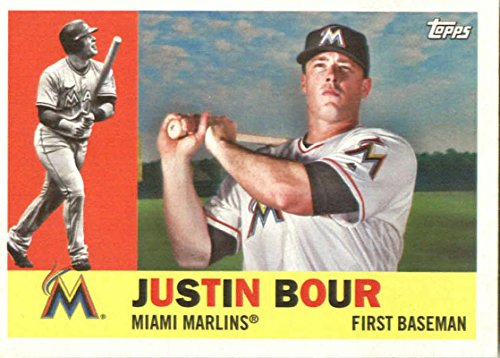 Justin Bour 2017 Topps Archives #41 Marlins Baseball Card