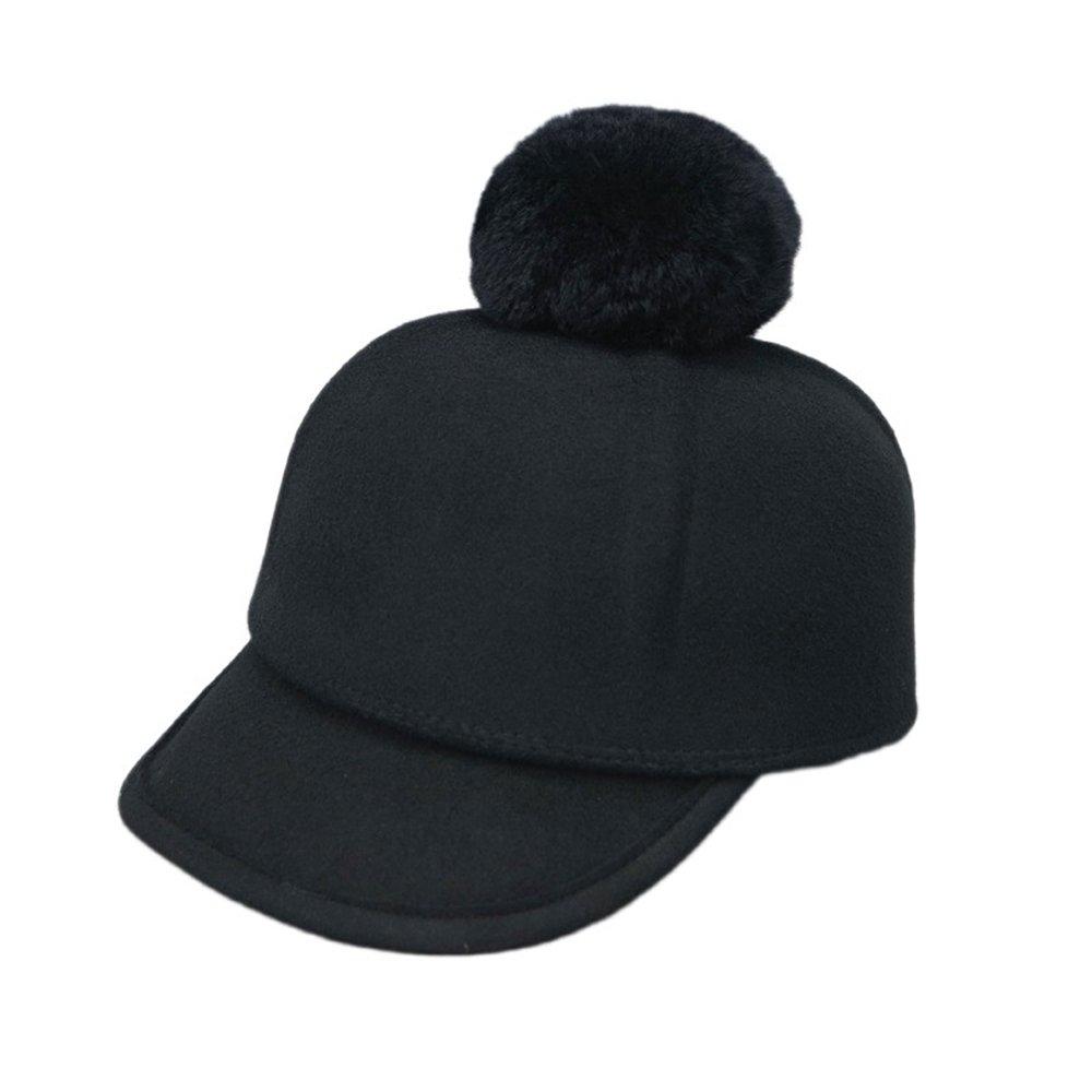 Shuo lan hu wai Herbst und Winter Wolle Reiten Baseballmütze schwarz Patchwork Cap