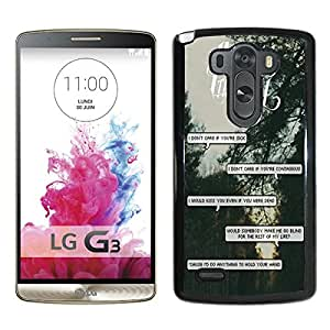 Band pierce the veil Quotes (3) Black Fantastic Style Design LG G3 Case