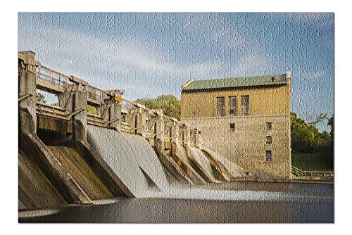 Barton Arbor - Barton Dam, Ann Arbor, Michigan Photography A-90801 (20x30 Premium 1000 Piece Jigsaw Puzzle, Made in USA!)