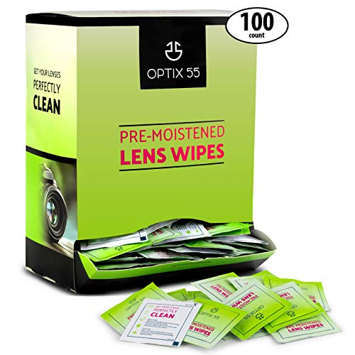 Lens Cleaning Wipes Eyeglass Cleaner, 100 Pre-Moistened Lens Wipes- Glasses Cleaner Cloth Wipe Safely Cleans Eye Glasses, Sunglasses, Screens, Electronics, Computer Monitor & Camera Lense| ()