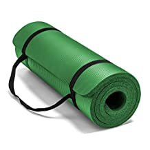 Spoga Premium 5/8-Inch Extra Thick 71-Inch Long High Density Exercise Yoga Mat with Comfort Foam and Carrying Straps