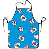 Timedallas Ethnic Style Poker Lock Edge Waterproof Adjustable Men Women Durable Apron Kitchen Cooking Commercial Restaurant Chef Apron