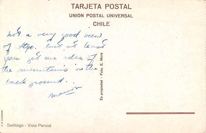Santiago Chile Scenic View Antique Postcard J55717 at ...