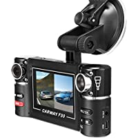 Vahulawa 2.7 F30 HD Dual Camera Lens Car Vehicle DVR Cam Dash Video Recorder 8 IR Lights SOS With Night Vision