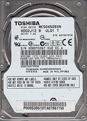 Toshiba 500GB SATA 2.5 Hard Drive HDD2H21 S ZK01 T MK5055GSX