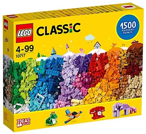 LEGO Classic 10717 Bricks Bricks Bricks 1500 Piece Set – Encourages Creativity in all Ages – Ideal for Creators of all Ages – Brick Separator Included