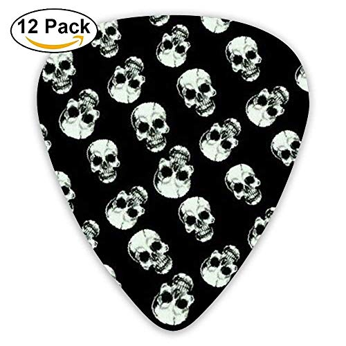 Accessories Light Sugar Skull Bass Light Guitar Picks 12 Packs