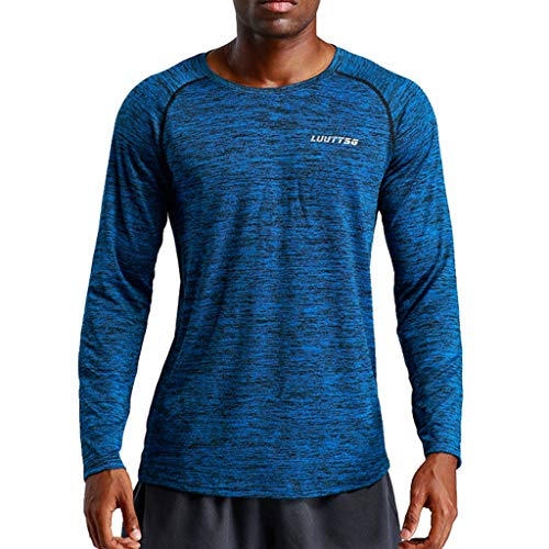 Men's New Fitness Training Clothes Long Sleeve Blouse Outdoor Sports Blouse Top