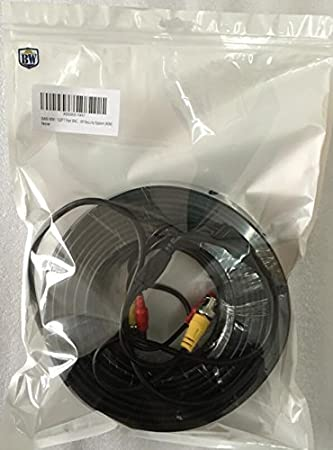 16.4 Feet BNC Video Power Cable For CCTV Camera DVR Security System 4.0mm 0.2mm/² Cable OD BW/® 5M Cable type