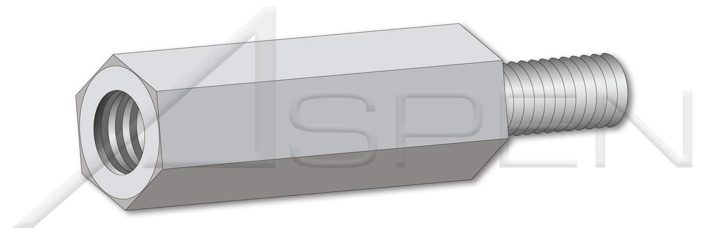 #6-32 X 7//8 Hex Male-Female Standoffs 1//4 Across Flats Aluminum 325 pcs