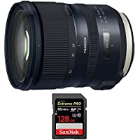 Tamron (AFA032C-700) SP 24-70mm f/2.8 Di VC USD G2 Lens for Canon Mount w/ Sandisk Extreme PRO SDXC 128GB UHS-1 Memory Card