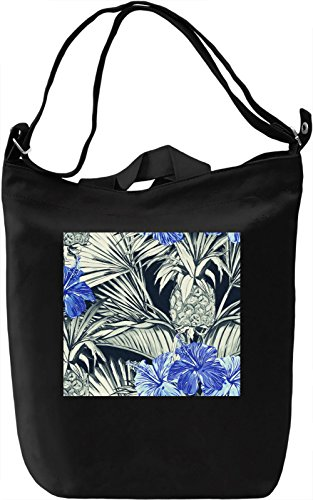 Palm Leaf Pattern Borsa Giornaliera Canvas Canvas Day Bag| 100% Premium Cotton Canvas| DTG Printing|