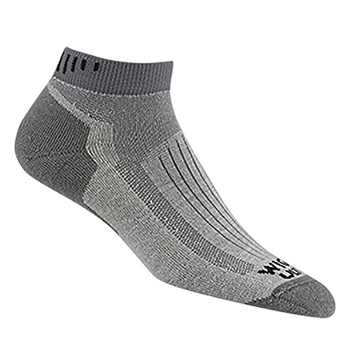 Wigwam Men's Merino Ridge Runner Pro Quarter Socks, Light Grey, Sock Size:10-13/Shoe Size: 6-12