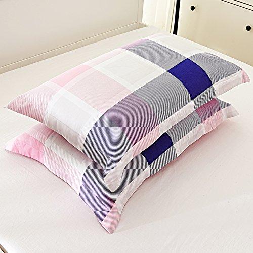48*74cm Silky Pillow Cover Comfortable Pillowcase Blue - 9