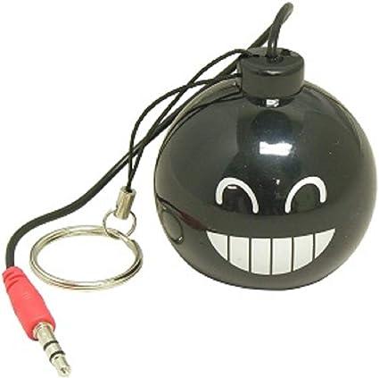 3.5mm Plug Mini Portable USB Rechargeable Speaker Smile Bomb Design PC Tablet