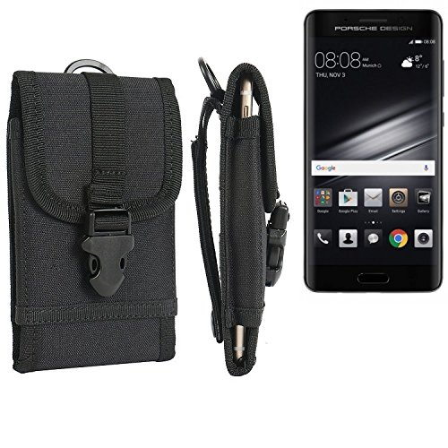 bolsa del cinturón / funda para Huawei Mate 9 Porsche Design, negro | caja del teléfono cubierta protectora bolso - K-S-Trade (TM)