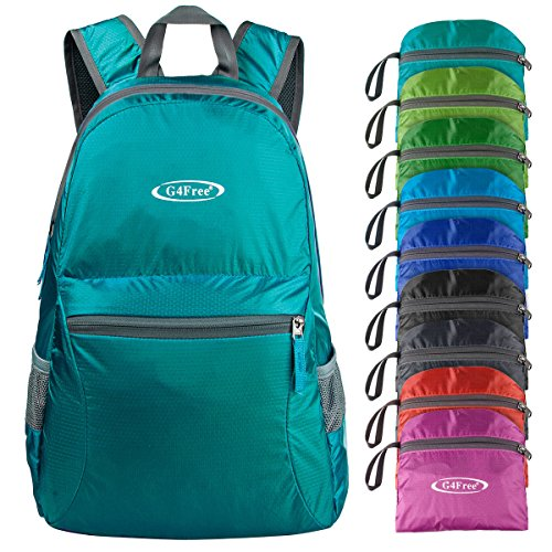G4Free Ultra Lightweight Packable Backpack Hiking Daypack,Handy Foldable Camping Outdoor Backpack(Teal)