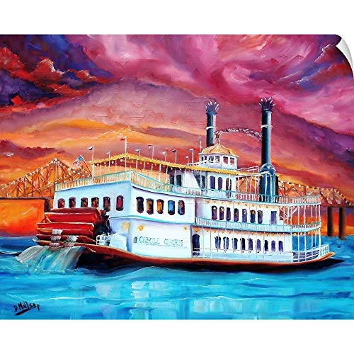 CANVAS ON DEMAND New Orleans' Creole Queen Wall Peel Art Print, 24