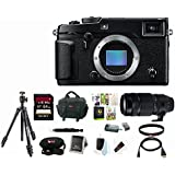 Fujifilm X-Pro2 Mirrorless Digital Camera (Body Only) with Super Telephoto Zoom Lens & 64GB Memory Card Bundle