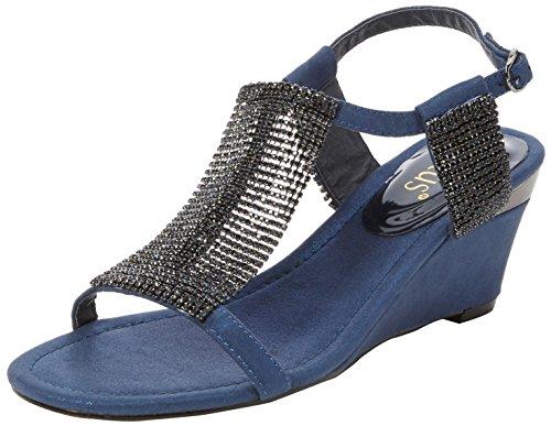 Lotus Klaudia - Sandalias Mujer Blue (navy/chainmail)