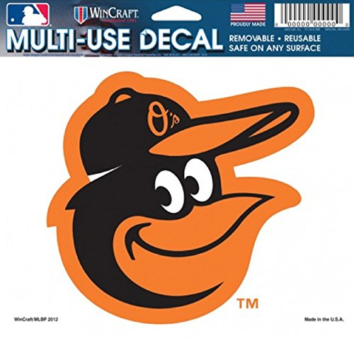 MLB Baltimore Orioles 14405012 Multi-Use Colored Decal, 5