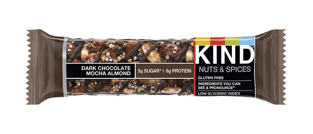 KIND Nuts & Spices CMjPW Bars, Dark Chocolate Mocha Almond, 48 Count GRahy by KIND