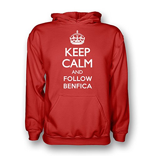 Keep Calm And Follow Benfica Hoody (red) Kids B07C9781FVRed XSB (3-4 Years)