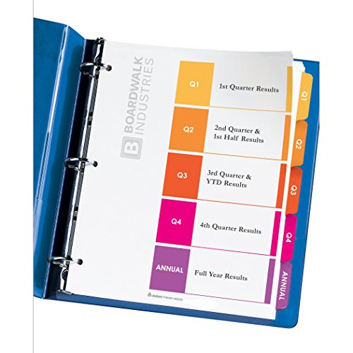 Jual Avery Ready Index Table of Contents Quarterly Dividers