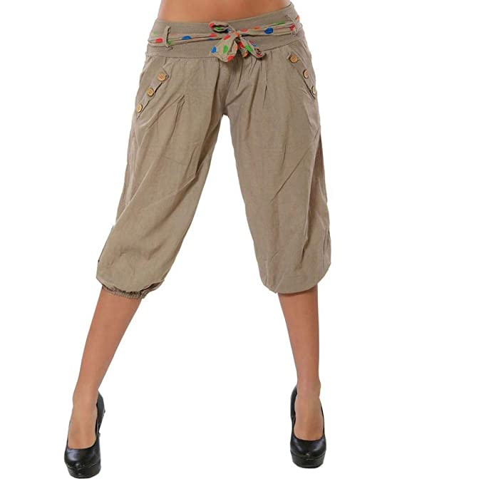 Amazon.com: Kingfansion - Pantalones de mujer con cintura ...
