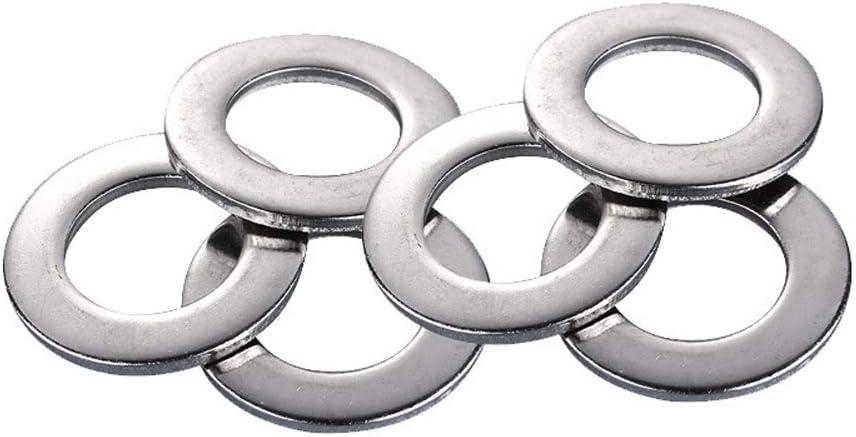 HLONGG 684 Pieces washers Flat washers Range 304 Stainless Steel 9 Sizes M2 M2.5 M3 M4 M5 M6 M8 M10 M12 washers washers Set