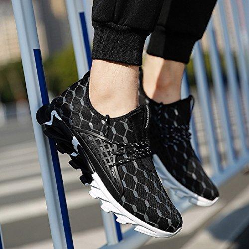Herren Laufschuhe im Freien Lace Up Fashion Sneakers von JiYe Schwarz