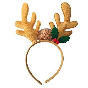 e8ca3c1e7f6a3 Amazon.com   EAPTS 1 PC Christmas 3D Reindeer Antlers Hair Hoop ...