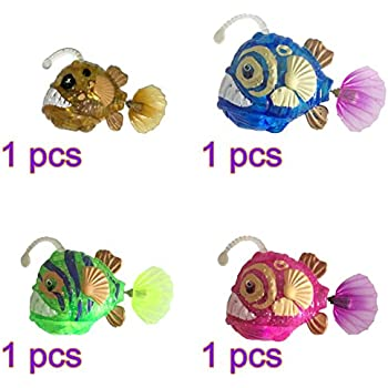 TOYMYTOY Baby Bath Fish Toys Floating Light Up Toys Bathtub Time Toys 4pcs