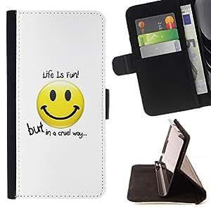 Momo Phone Case / Flip Funda de Cuero Case Cover - La vida divertida Diversión - HTC One M9
