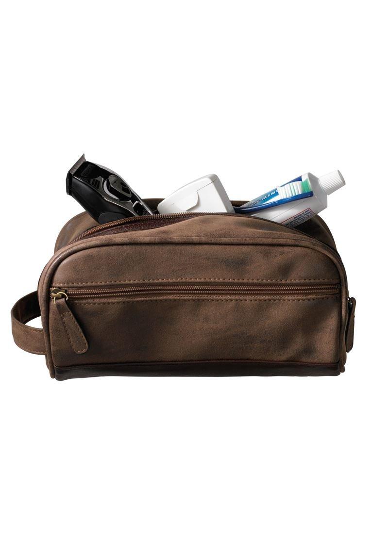 Kingsize Men's Big & Tall Travel Shaving Bag, Brown 0