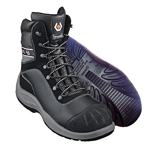 Base para invierno–Botas de seguridad S3cl Sr, Negro negro