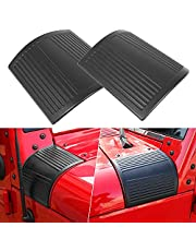 Black Cowl Body Armor Outer Cowling Cover Trim Exterior Accessories for 2007-2018 Jeep Wrangler JK JKU Unlimited Rubicon Sahara X Off Road Sport