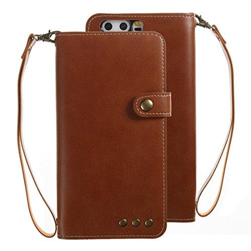 ZITEZHAI-Fashion case for Huawei P10 Retro Crazy Horse Texture Horizontal Flip PU Leather Case with Card Slots & Wallet & Hand Strap (Size : Mlc0372z)]()