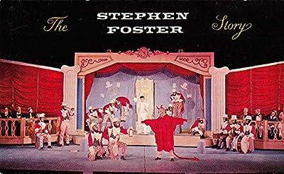 Bardstown Kentucky minstrel scene The Stephen Foster Story vintage pc Z22397