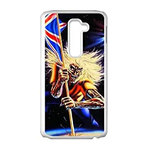 LG G2 Cell Phone Case White Iron Maiden syls
