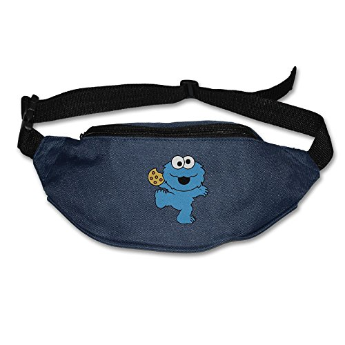 Xxh Fanny Pack Waist Blue Monster Cookies Sport Bag For Outdoors Workout Cycling