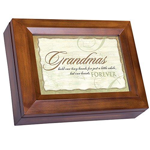 Gold Holy Communion Heart (Grandmas Hold Hearts Forever Woodgrain Digital Keepsake Music Box Plays My Wish)