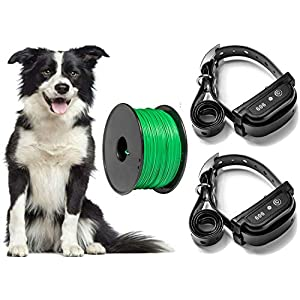 Earlyhights Electric Underground Outdoor Dog Containment Fence System,5 Acre Range 500 Feet In Ground Wire, Small, Medium, Or Large Dogs Over 5 lbs