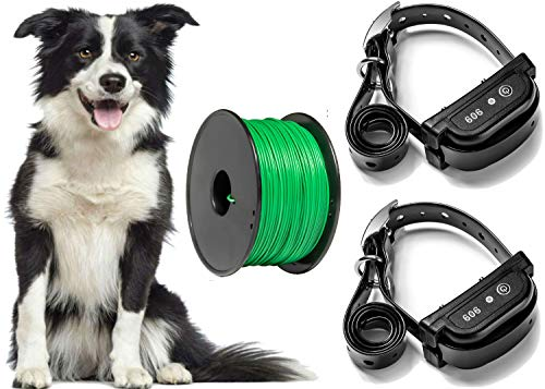 Earlyhights Electric Underground Outdoor Dog Containment Fence System,5 Acre Range 500 Feet In Ground Wire, Small, Medium, Or Large Dogs Over 5 - Pet Fence Underground