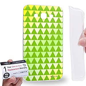 Case88 [Samsung Galaxy E7] Gel TPU Carcasa/Funda & Tarjeta de garantía - Art Fashion Lime Geometric Aztec Camo Art2135