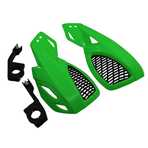 Motor Brush Racing - Oda 2 PCS Motorcycle Handguards Motorcycle Dirt Bike Scooter Handle Bar Hand Guards Brush Bar Protector for Motocross Supermoto Racing Dirt Bike ATV Green