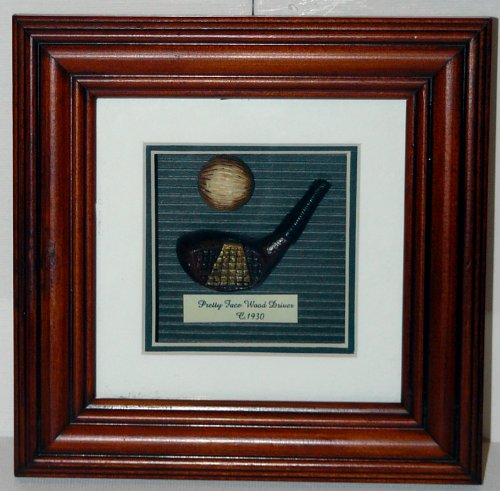 Golf History Shadow Box - Pretty Face Wood Driver Shadow Box by Navika