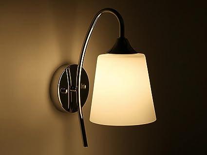 Moderne Lampen 51 : Moderne led wandleuchten metall arm lampe körper chrom glas