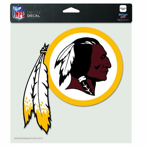 Washington Nationals Round Clock - NFL Washington Redskins 8-by-8 Inch Diecut Colored Decal